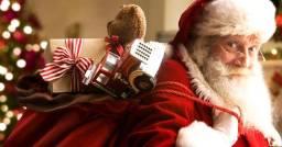 Papai noel santa claus festa e eventos natalino visitas e entrega dos presentes