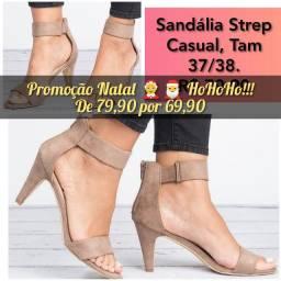 Sandálias estilosas adulto feminino