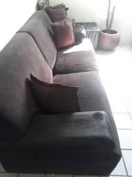 mesa mármore, sofa e poltronas