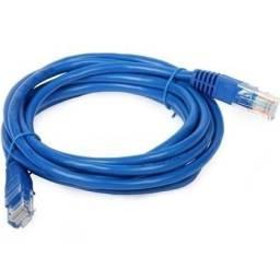 Cabo De Rede Azul 3 Metros Rj45 Crimpado Cat5e Internet Lan