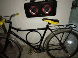 Caixa de som e bike