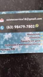 Manutenção corretiva e preventiva ar condicionado residencial  e ELÉTRICA