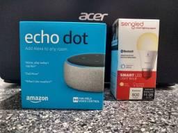 Amazon Alexia Echot Dot 3ª + Lampada Smart