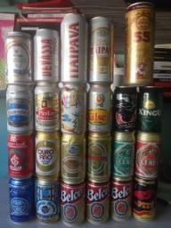 Lote De Latas Cervejas Nacionais Anos 90/00 (23 Latas)