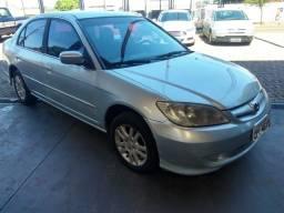Honda civic lx 1.7 2005/2005 prata completo financiamos