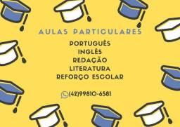 Aulas particulares de Português, Redação, Literatura e Reforço Escolar