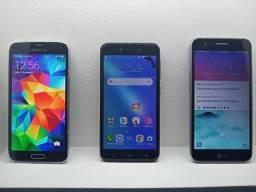 Kit 3 Celulares Lgk10, Sansung Galaxy S5 E Asus Zenfone Live