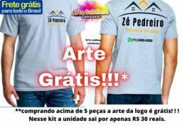 Camiseta uniforme frete grátis todo Brasil com arte grátis
