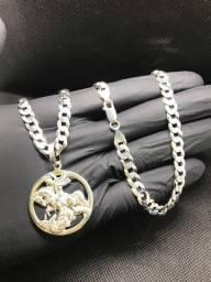 Corrente e pingente de prata 925