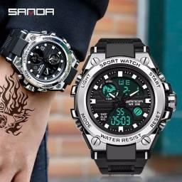 Relógio Masculino Sanda Original Caixa de aço