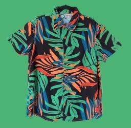 Camisa botão 100% viscose