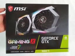 Placa Vídeo MSI Gtx 1660 Ti Gaming X 6G Gddr6 - Rgb/Refrigeração Acima das Concorrentes