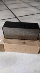 Rádio relógio despertador digital com bluetooth