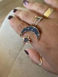 Título do anúncio: anel lua e estrela swarovski