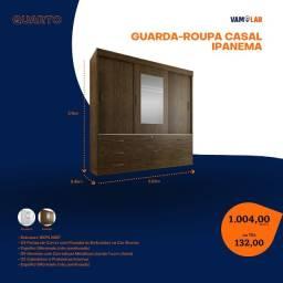 Título do anúncio: Guarda-Roupa Casal Ipanema 3 Portas (Entrega Rápida/Frete Grátis)