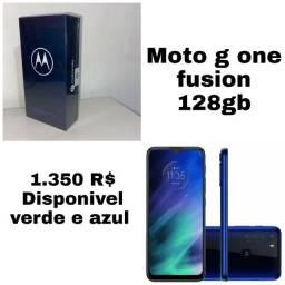 Motorola one fusion lacrado e com nota fiscal. 1 ano de garantia pelo fabricante.