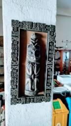 01 Quadros em Pedra Sabão Asteca Antigo para decorar sua Casa