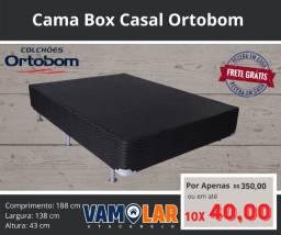 Título do anúncio: Cama Box de Casal Ortobom!