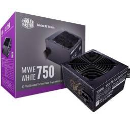 Fonte Gamer Cooler Master 750W Reais 80Plus White - NOVA - Loja Física