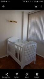 Título do anúncio: Berço que vira mini cama da Puppi Móbile, muito bem conservado. Novo custa 3.800,00