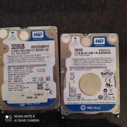 HDs para notebook e pcs