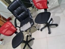 Kit c/ 3 cadeiras de escritório