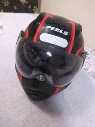 Vendo capacete com óculos acoplado top