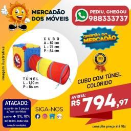 Título do anúncio: Cubo Infantil Com Túnel Colorido Em Até 10x Nos Cartões - Entrega Grátis