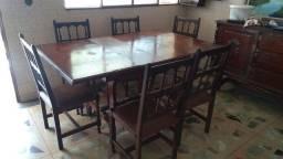 Título do anúncio: Mesa antiga em madeira nobre - somente a mesa