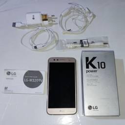 Celular LG K10 Power funciona perfeitamente.