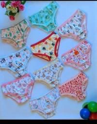 Kit 5 calcinhas infantil algodão
