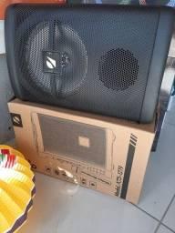 Caixa De Som Portátil com Microfone sem fio