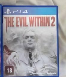 Evil with 2 PS4 estou no ABC aceito troca volto a diferença