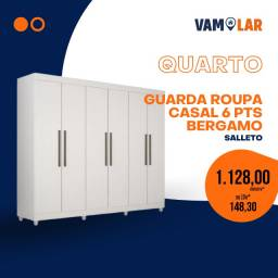 Título do anúncio: Roupeiro Bérgamo Plus 6 Portas (Entrega Rápida/Frete Grátis)