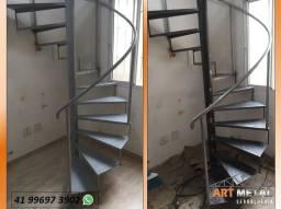 Título do anúncio: Escada Ferro, escada Metal, escada caracol,  escada metálica.