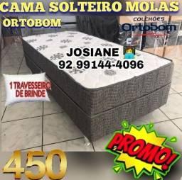 CAMA DE SOLTEIRO MOLAS ORTOBOM GANHE 1 TRAVESSEIRO