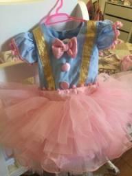 Vestido circo rosa TAM 1 ano