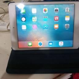 Mini Ipad em perfeição com carregador e protetor
