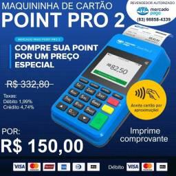 Marquininha  de cartão point pro2 que imprime comprovante