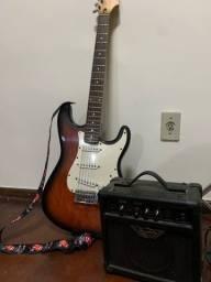 Guitarra Shelter + Amplificador e brindes