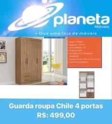 Título do anúncio: GUARDA ROUPA CHILE 4P // AQUÁRIO AQUÁRIO