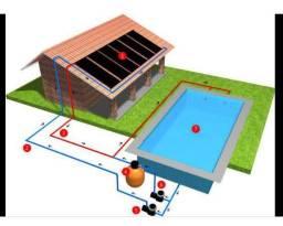 Aquecedor Solar para piscina, 8 placas 2,50 x 0,90 (18 M²)