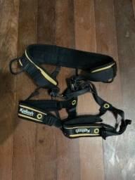 Título do anúncio: Kit Escalada Esportiva pouco uso com Cadeirinha Kailash e Sapatilha Acampar Pouca usada
