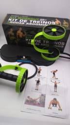 Roda abdominal para treino com elástico//Adquirajá entrega grátis