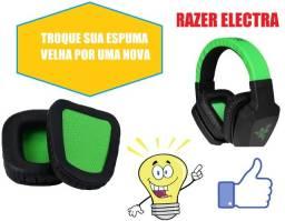 Par De Almofadas Espuma Compatível Razer Electra E Chimaera