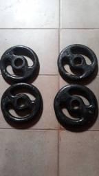 4 anilhas de 2kg