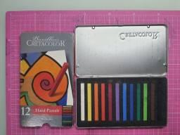 Pastel seco cretacolor 12 cores