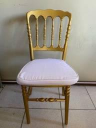 Cadeira DIOR dourada madeira