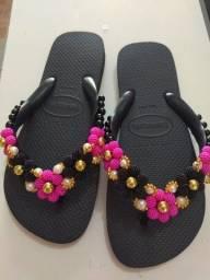 Título do anúncio: Havaianas decoradas customizada