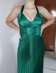 Título do anúncio: Vestido Longo Verde Esmeralda